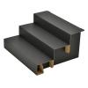 組立式3段飾り棚 ブラック